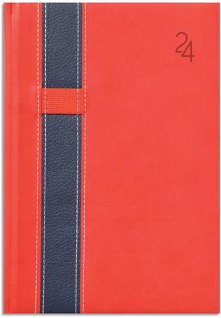 Naptár, tervező, B5, heti, TOPTIMER Vario, piros-kék