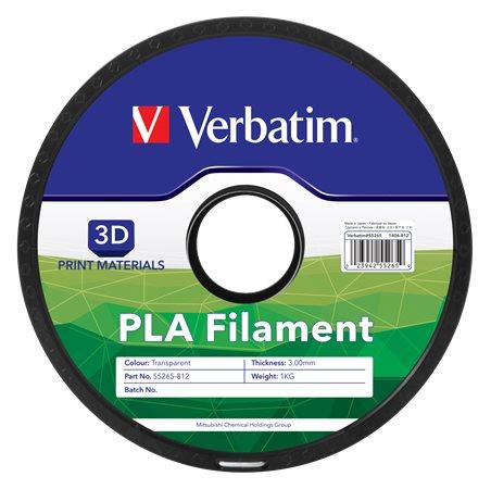 3D nyomtató kellékanyag, PLA, 3 mm, 1 kg, VERBATIM, semleges
