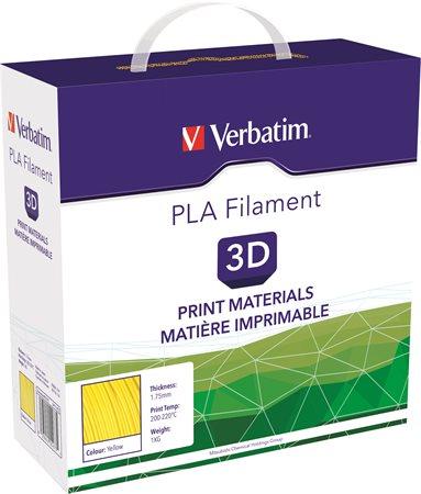 3D nyomtató kellékanyag, PLA 1,75mm, 1kg, VERBATIM, sárga