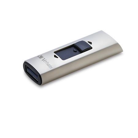 SSD (külső memória), 128GB, USB 3.0, VERBATIM Vx400 ezüst