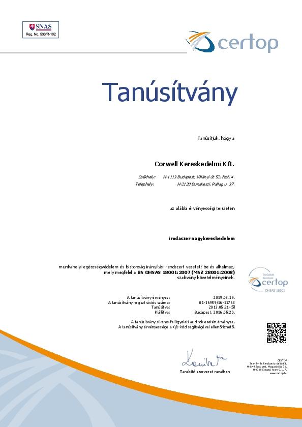BS OHSAS 18001 (MSZ 28001)