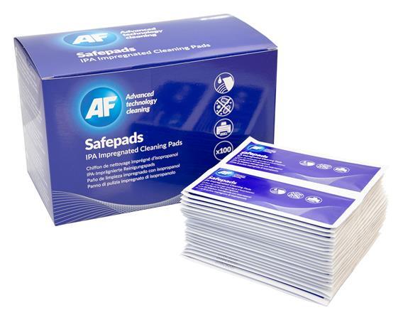 Tisztítókendő, izopropil alkohollal, nagy méretű, 100 db, AF