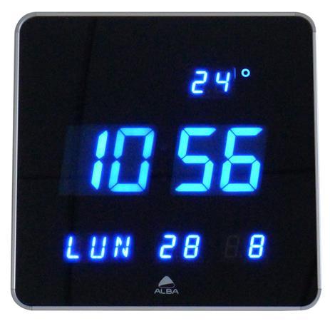Falióra, LED kijelzős, 28 cm, ALBA