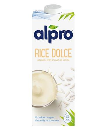 Növényi ital, dobozos, 1 l, ALPRO, rizs dolce
