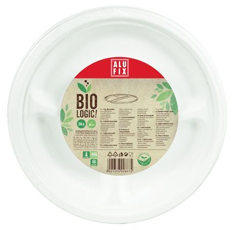 Menü tányér, 26 cm, 3 részes, ALUFIX,