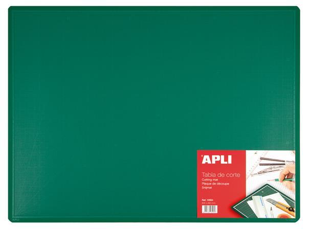 Vágólap, 600x450x2 mm, APLI, zöld