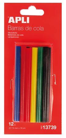Ragasztó stick, színes, APLI