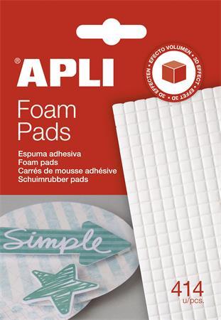 Ragasztó négyzetek, 414 db/csomag, kétoldalas, APLI