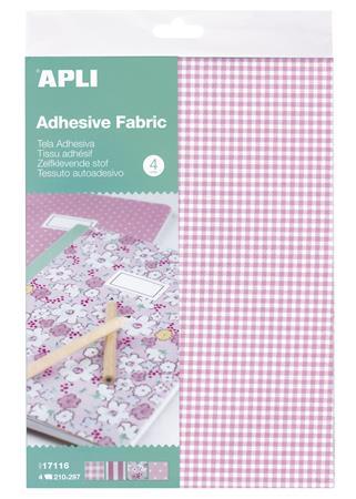 Textil lap, öntapadós, 210×297 mm, APLI, 4 különböző minta