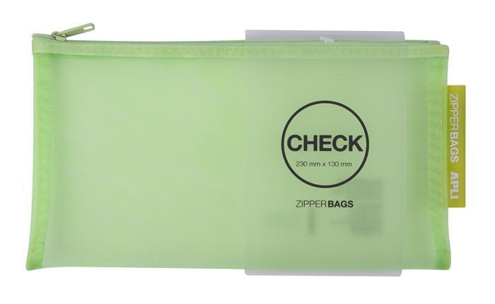 Rendszerező tasak, nylon, cipzáras, 230 x 130 mm, APLI, vegyes színek