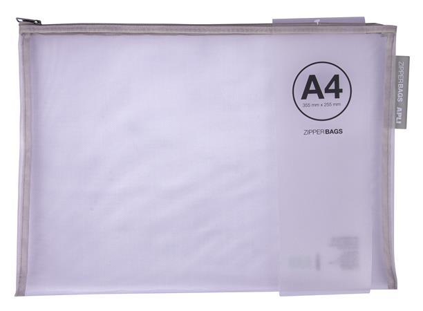 Rendszerező tasak, nylon, cipzáras, 355 x 255 mm, APLI, vegyes színek