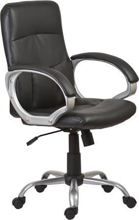 Főnöki szék, műbőrborítás, ezüst színű lábkereszt,