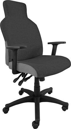 Főnöki szék, szövetborítás, fekete lábkereszt,