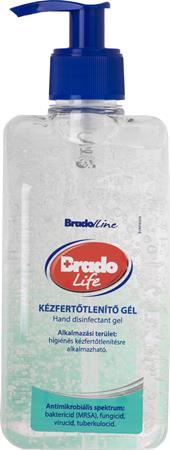 Kézfertőlenítő gél, alkoholos, 500 ml, BRADOLIFE