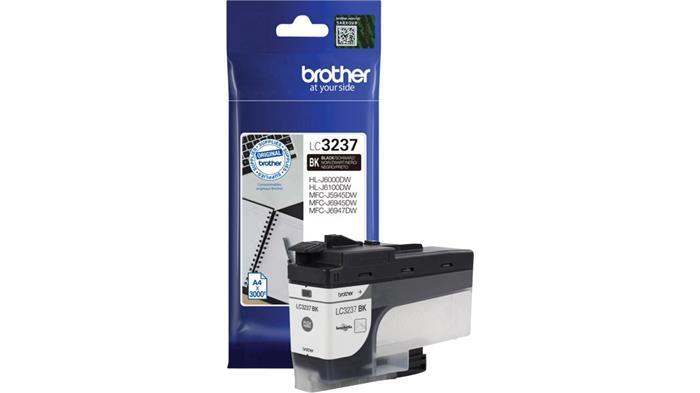 LC3237BK Tintapatron HL-J6000DW, MFC-J5945DW, MFC-J6945DW, MFC-J6947DW nyomtatókhoz, BROTHER fekete, 3k