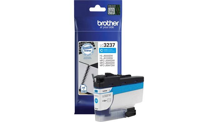 LC3237C Tintapatron HL-J6000DW, MFC-J5945DW, MFC-J6945DW, MFC-J6947DW nyomtatókhoz, BROTHER kék, 1,5k