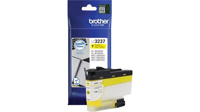 LC3237Y Tintapatron HL-J6000DW, MFC-J5945DW, MFC-J6945DW, MFC-J6947DW nyomtatókhoz, BROTHER sárga, 1,5k