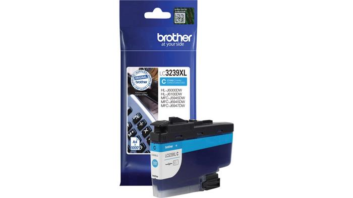 LC3239XLC Tintapatron HL-J6000DW, MFC-J5945DW, MFC-J6945DW, MFC-J6947DW nyomtatókhoz, BROTHER kék, 5k