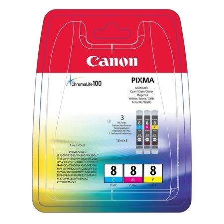 CLI-8KIT Tintapatron multipack Pixma iP3500, 4200 nyomtatókhoz, CANON c+m+y, 3*13ml