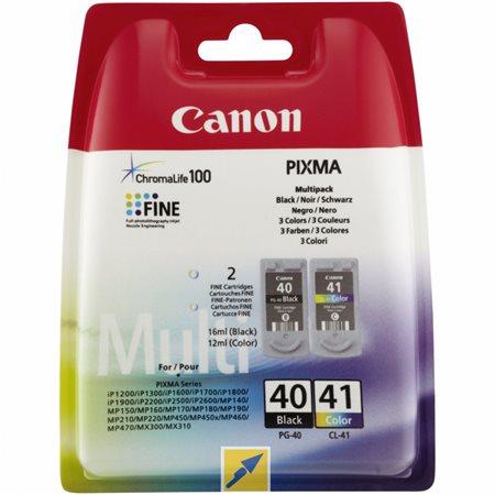 PG-40 /CL-41 Tintapatron multipack  Pixma iP1300, 1600, 1700 nyomtatókhoz, CANON fekete,színes 16ml+12ml