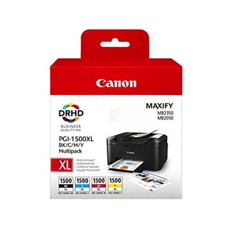 PGI-1500XLKIT Tintapatron multipack Maxify MB2350 nyomtatóhoz, CANON b+c+m+y, 34ml+3*12ml