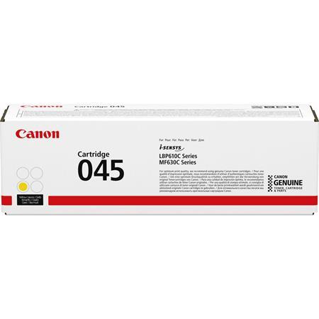 CRG-045 Lézertoner i-SENSYS LBP613Cdw, LBP611Cn MF635Cx, MF633Cdw, MF631Cn nyomtatókhoz, CANON, sárga, 1,3k