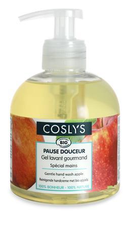 Folyékony szappan, bio, kézkímélő, 0,3 l, COSLYS, alma