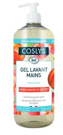 Folyékony szappan, bio, kézkímélő, 1 l, COSLYS, alma