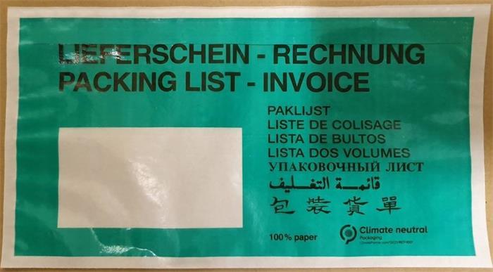 Okmánykísérő tasak, LA4, öntapadó, papír, 240x110 mm, 1000 db/csomag