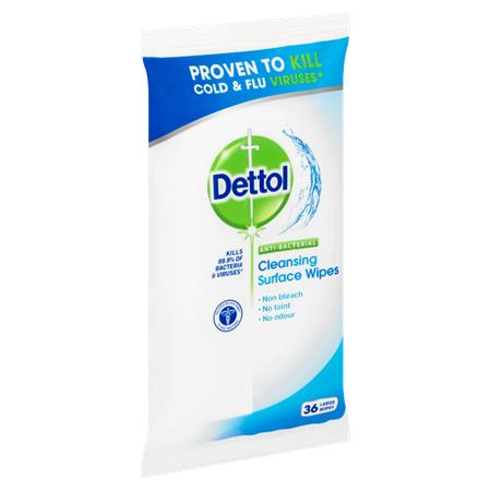 Felülettisztító kendő, antibakteriális, 36 db, DETTOL