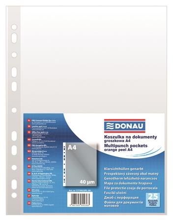 Genotherm, lefűzhető, A4, 40 mikron, narancsos felület, DONAU