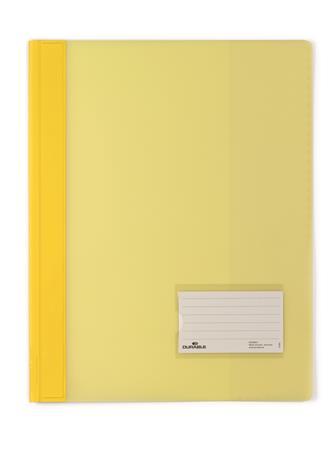 Gyorsfűző, A4, extra erős, széles, DURABLE, sárga