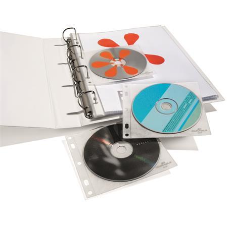CD/DVD tartó zseb, lefűzhető, DURABLE