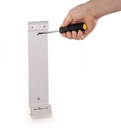 Bemutatótábla tartó, fali, 10 férőhelyes, DURABLE