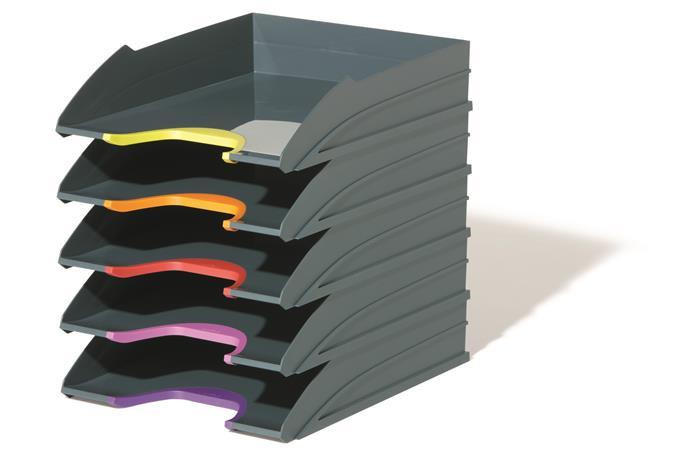Irattálca szett, műanyag, 5 részes, DURABLE