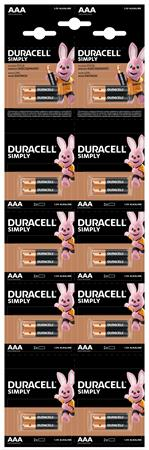 Elem, AAA, mikro, 10x2 db, DURACELL
