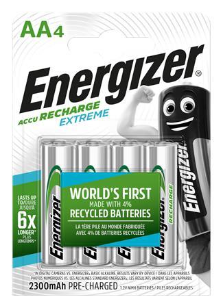 Tölthető elem, AA ceruza, 4x2300 mAh, előtöltött, ENERGIZER