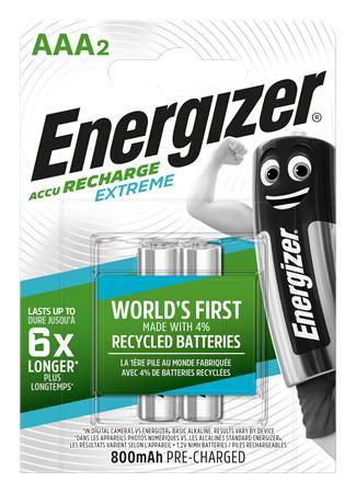 Tölthető elem, AAA mikro, 2x800 mAh, előtöltött, ENERGIZER