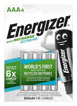 Tölthető elem, AAA mikro, 4x800 mAh, előtöltött, ENERGIZER