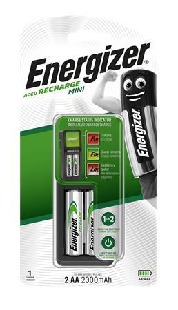 Elemtöltő, AA ceruza/AAA mikro, 2x2000mAh, ENERGIZER