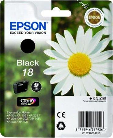 T18014010 Tintapatron XP 30, 102, 202, 205 nyomtatókhoz, EPSON fekete, 5,2ml