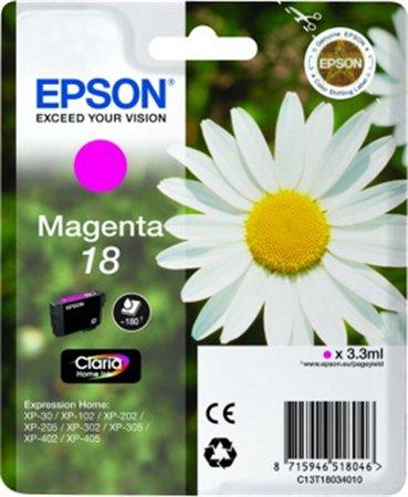 T18034012 Tintapatron XP 30, 102, 202, 205 nyomtatókhoz, EPSON vörös, 3,3ml