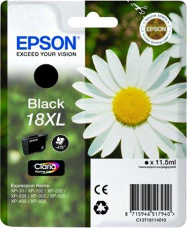 T18114012 Tintapatron XP 30, 102, 202, 205 nyomtatókhoz, EPSON fekete, 11,5ml