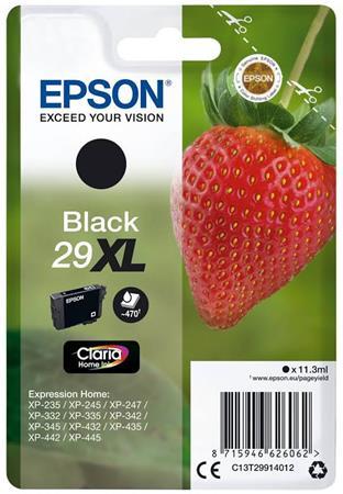 C13T29914012 Tintapatron XP245 nyomtatóhoz, EPSON, fekete, 11,3ml