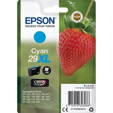C13T29924012 Tintapatron XP245 nyomtatóhoz, EPSON, cián, 6,4ml