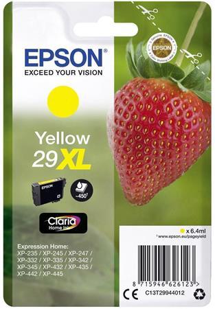 C13T29944012 Tintapatron XP245 nyomtatóhoz, EPSON, sárga, 6,4ml