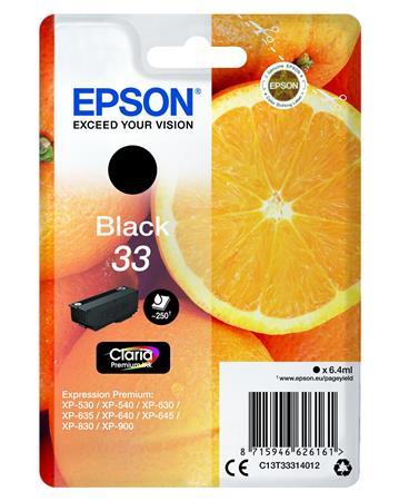 T33314012 Tintapatron Expression Premium XP530, 630, 900 nyomtatókhoz, EPSON, fekete, 6,4 ml