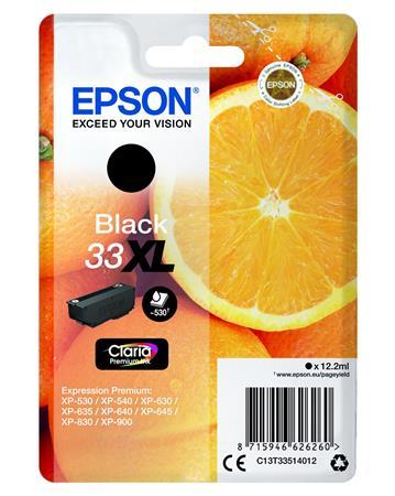 T33514012  Tintapatron Expression Premium XP530, 630, 900 nyomtatókhoz, EPSON, fekete, 12,2 ml