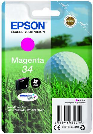 T34634010 Tintapatron WorkForce WF-3720DWF nyomtatóhoz, EPSON, magenta, 4,2 ml