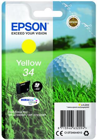 T34644010 Tintapatron WorkForce WF-3720DWF nyomtatóhoz, EPSON, sárga, 4,2 ml